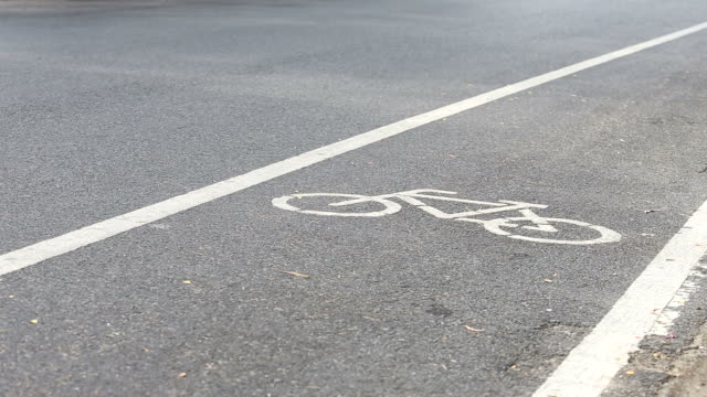 bicycle lane with biker video