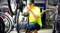 Bicycle repair. video