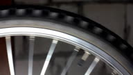 Bicycle tire rotating video