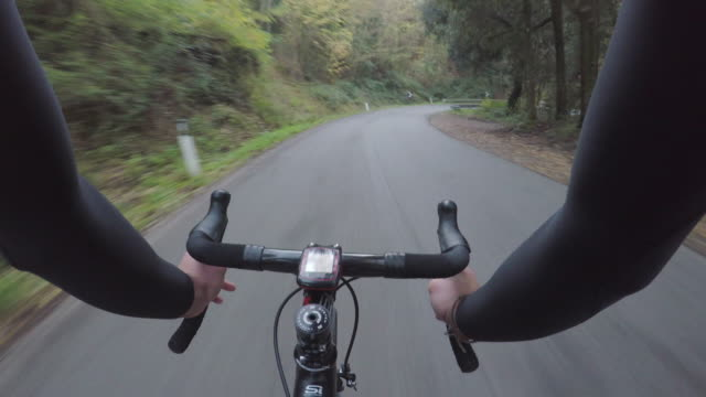 Bicycle training on Tuscany. Personal perspective video