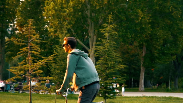 Bicycling in the park video