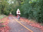 Bicyclist on Trail 3 video