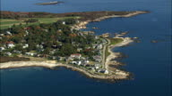 Bideford Pool  - Aerial View - Maine,  York County,  United States video