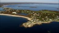 Bideford Pool  - Aerial View - Maine,  York County,  United States video