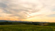 Biei Hill View the Shinei-no-oka sunset time lapse ,biei, hokkaido, japan video