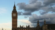 Big Ben and Parliament time-lapse. London sunset. Day to night video