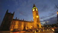 Big Ben and Parliament time-lapse. London video