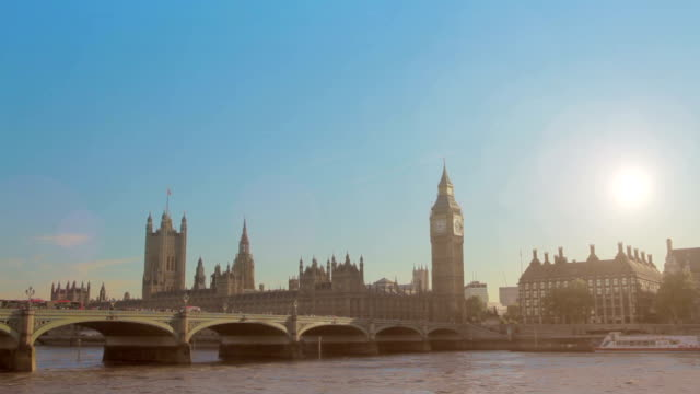 Big Ben and Thames River video