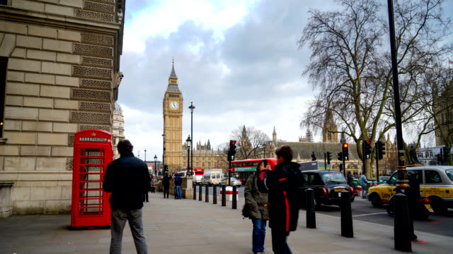 Big Ben and Westminster abbey in London, UK video
