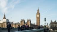 Big Ben and westminster bridge in London. video