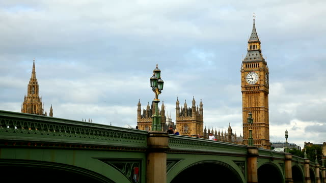 Big Ben and Westminster bridge video