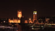Big Ben, Houses of Parliament, London at Night video