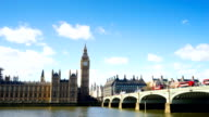 Big Ben, London eye and Westminster abbey in London, UK video