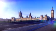 Big Ben, London time-lapse. HD video