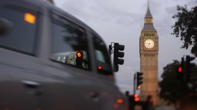 Big Ben Parliament square London dusk video