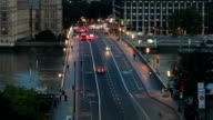 big ben sunrise over westminster bridge tilt up video