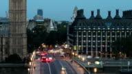 big ben sunrise over westminster bridge zoom out timelapse video