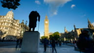 4K Big Ben, telephone booth and Westminster abbey in London, UK video