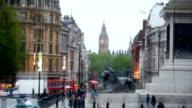 Big Ben & Trafalgar square in London, UK video