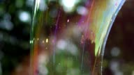 Big bubble shimmering colors of the rainbow video