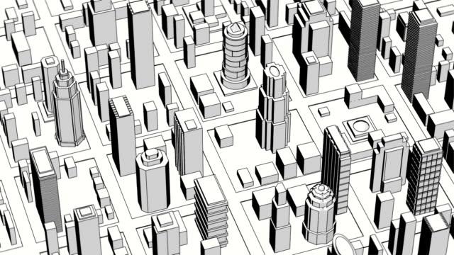 Big city. Cartoon style. video