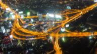 Big City Highway Interchange Time Lapse video