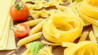 Big collection of italian pasta video