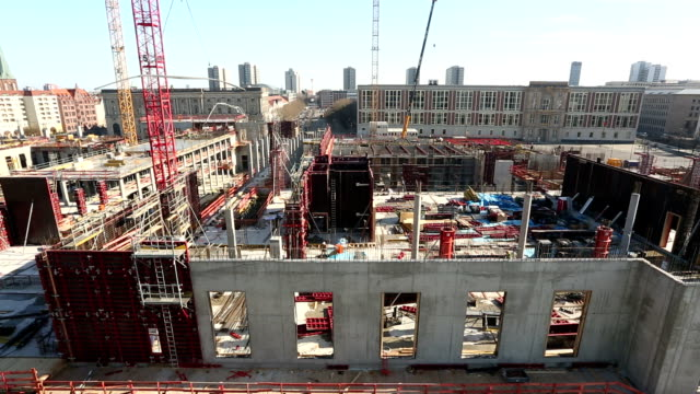 Big Construction Site in Berlin, Time Lapse video