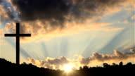 Big Cross at sunset video