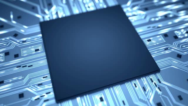 Big data chip background loop video