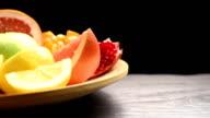 Big dish of fruit video