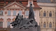Big fountain at the Old Town Square in Prague video