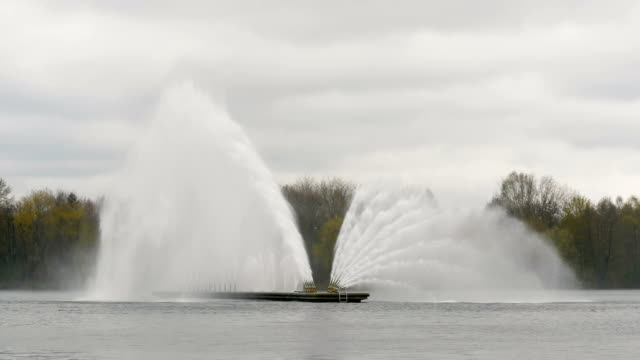 Big fountain in Minsk - slowmotion 60 fps video