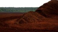 Big heaps of red peat land video