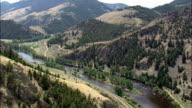 Big Hole River  - Aerial View - Montana,  Beaverhead County,  helicopter filming,  aerial video,  cineflex,  establishing shot,  United States video