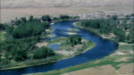 Big Horn River - Aerial View - Montana, Big Horn County, United States video