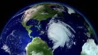 Big hurricane around North America. Satellite view. Elements of this image furnished by NASA video