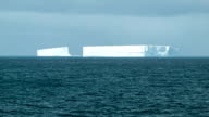 Big Iceberg Blocks Floating in Antarctica Medium Shot video