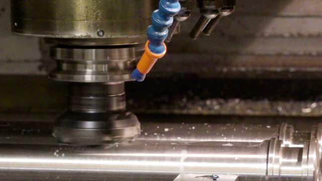 A big metal pipe being processed video
