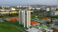 AERIAL: Big modern gasworks video