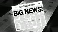 Big News! - Newspaper Headline (Intro + Loops) video