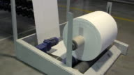 Big paper roll unreel for a printing press video