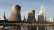 big power plant near the water video