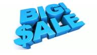 Big! Sale Blue 3D Graphic Text video