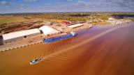 A big ship crossing the sea in the Parnu video