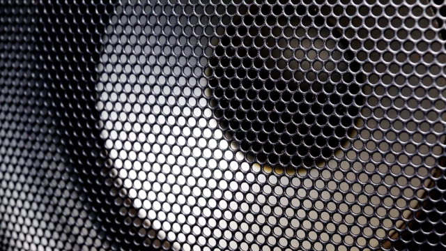 Big speaker vibrating from bass music. video