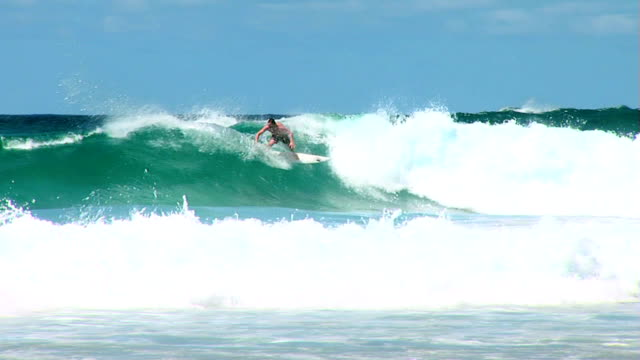 Big wave in Australia with surfer making carve on face video