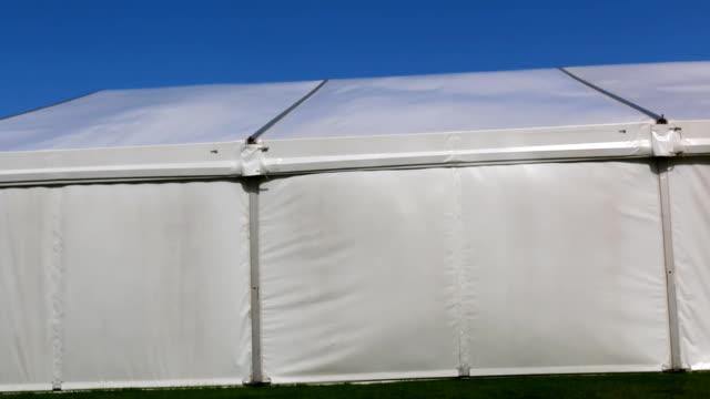Big white market tent video