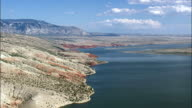 Bighorn Lake  - Aerial View - Wyoming, Big Horn County, United States video