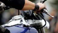 Bike. Close-up video